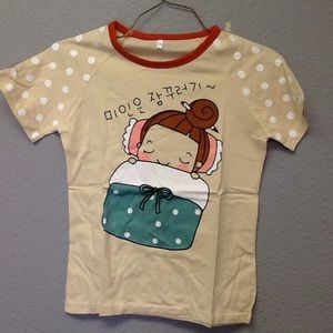 Other - Kids Graphic Pajama Set Size 130 (China)